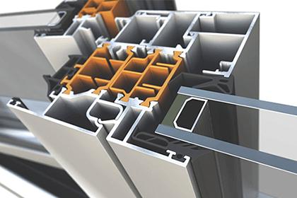Presek profila aluminijumske stolarije za zastakljivanje terasa
