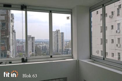 Sistem za zastakljivanje terasa sa duplim staklom Blok 63