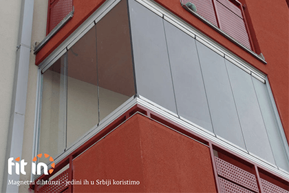 Sistem za zatvaranje terasa sa magnetnim dihtunzima